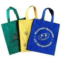 Reusable Non Woven Fabric Bags Non Toxic Custom Printed Multi Color Available