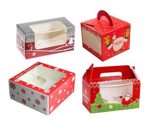 China Personalised Christmas Packaging Boxes With Clear Window Environmental Friendly supplier