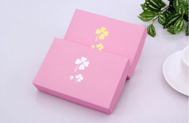 China Romantic Paper Xmas Gift Boxes Custom Flower Printed Many Colors Available supplier