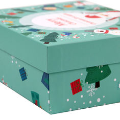 China Colored Decorative Christmas Paper Gift Boxes With Lids OEM / ODM Welcomed supplier