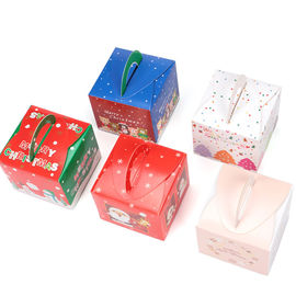 China Rectangle Paper Decorative Christmas Gift Boxes , Christmas Wrapping Paper Box supplier