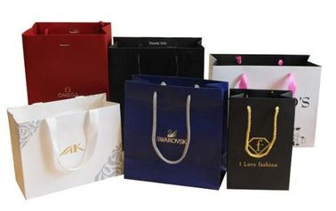 China Multi Colored Customized Shopping Bags For Business Shopping / Gift Packing supplier