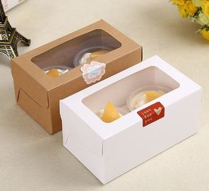 China Lovely Paper Dessert / Bakery Packaging Boxes With Clear Window Eco Friendly supplier