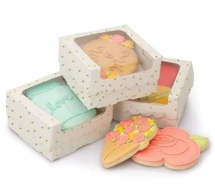 China Dessert Cupcake Packaging Boxes / Paper Food Gift Boxes With Custom Design supplier
