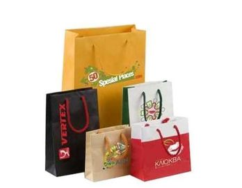 China Coloured Kraft Paper Bags For Shopping​ , Paper Business Bags With Logo supplier