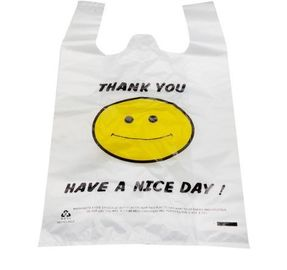 Eco Friendly Supermarket Plastic Shopping Bags / Waterproof Grocery Bags With Logo