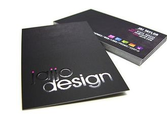 China Luxury Black Paper Business Cards , Custom Design And Print Business Card supplier