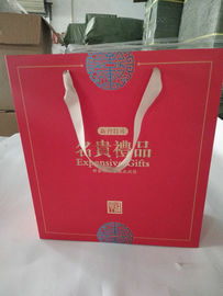 China Eco Friendly Custom Printed Paper Bags With Gloss Lamination Finishing supplier