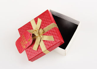 Red Present Packaging Cardboard Gift Boxes For Watch / Chocolate / Necklace