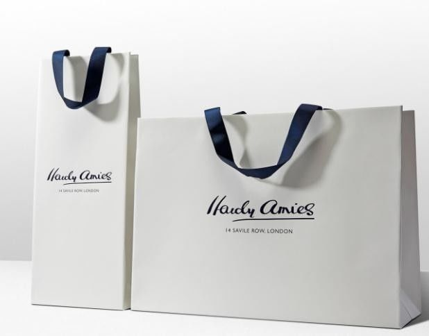 06e96c415 China Reusable Custom Printed Paper Bags With Handles For Packaging White  Color supplier