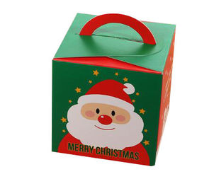 China Lovely Christmas Paper Gift Boxes / Xmas Food Packaging Box Custom Logo factory