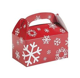 Custom Printed Christmas Paper Gift Boxes For Chocolate / Cookies Packing