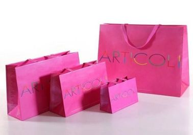 China Bright Color Paper Bags Printed With Logo , Paper Merchandise Bags factory