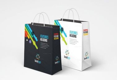 China High End Luxury Custom Printed Paper Bags , Beautiful Grocery Paper Bag factory