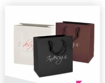 China Art Paper Material Printed Shopping Bags For Skin Care Products Packaging factory