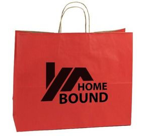 China Promotional Custom Printed Paper Shopping Bags With Cotton String Handles factory