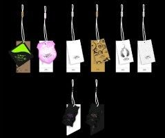 China Multi Shaped Colorful Custom Printed Hang Tags With Business Logo And String factory