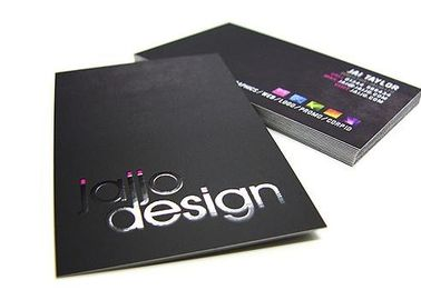 Luxury Black Paper Business Cards , Custom Design And Print Business Card