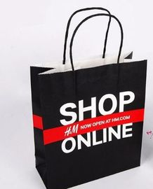 Colored Recycled Clothing Paper Bags For Shopping Custom Logo Accepted