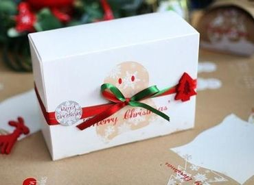 China Customized Paper Small Christmas Gift Boxes / Xmas Wrapping Boxes factory