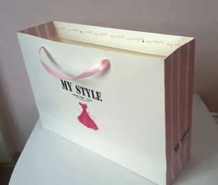 China Customized Paper Gift Bags For Packaging , Retail Shopping Bags With Handles factory