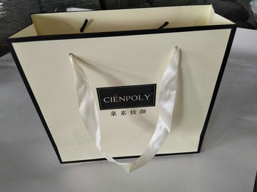 Colorful Paper Bags Printed With Logo / Luxury Printed Paper Gift Bags