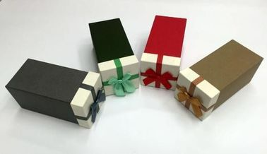 Square Christmas Gift Box Packaging , Cardboard Boxes For Christmas Presents
