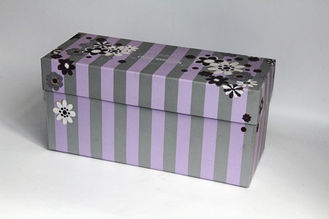 Fashion Christmas Paper Gift Boxes / Recycled Paper Sock Gift Boxes